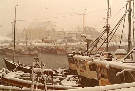 Neige au port
