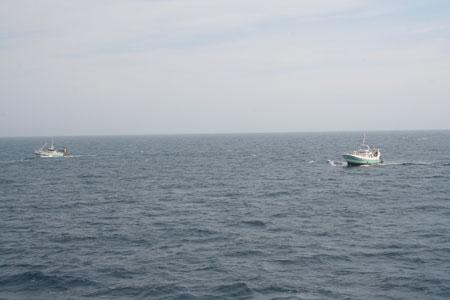 Le Magayant et le Tangaroa en pêche