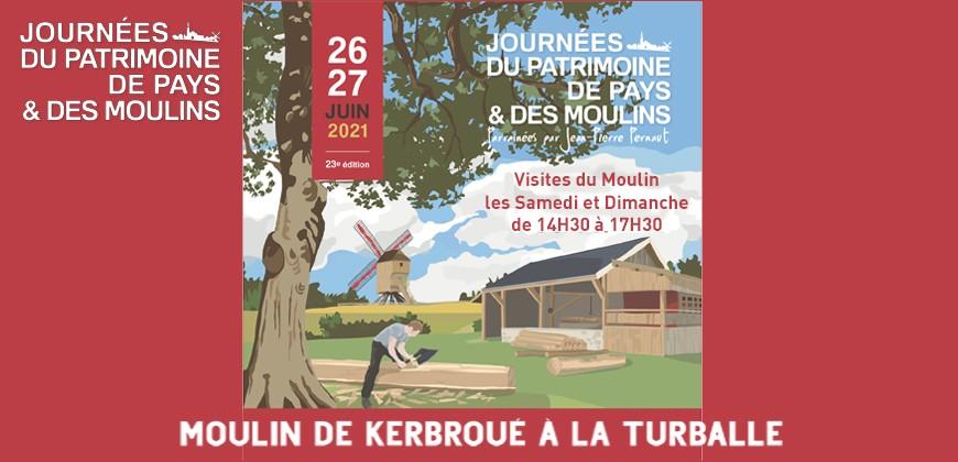 Le Moulin de Kerbroué participe aux Journées du Patrimoine de Pays